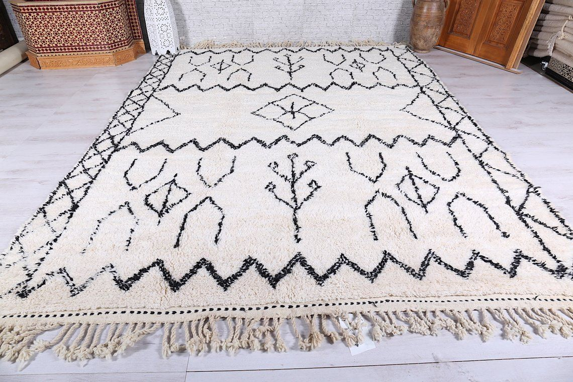 Black And White Moroccan Rug 8 4 Ft X 11 Ft White Moroccan Rugs