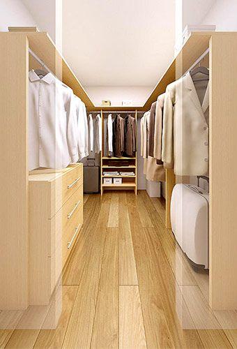 ウォークインクローゼットは、理想的な収納スペース   HOME ...