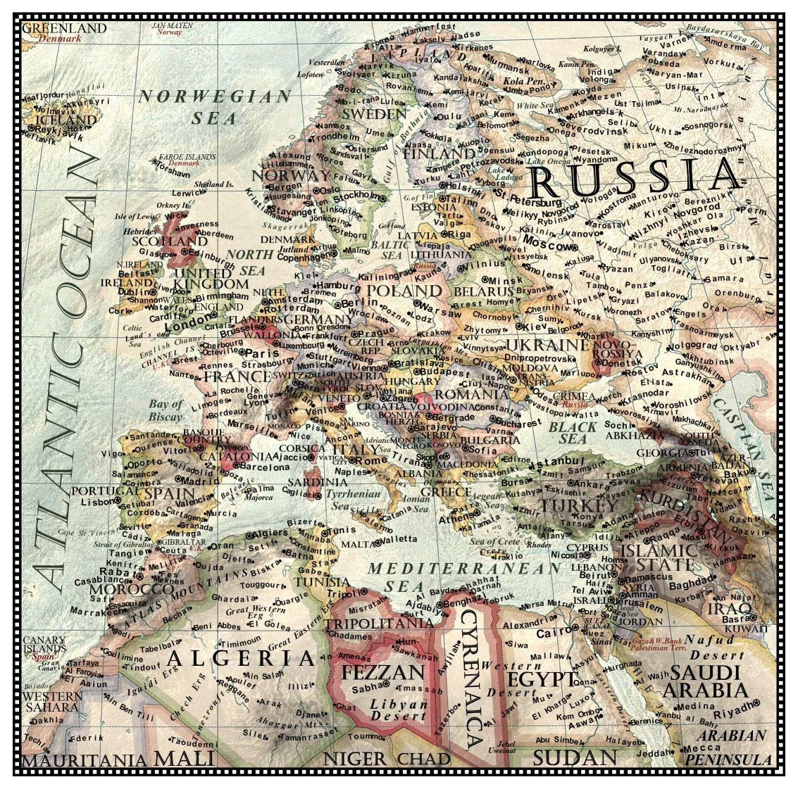 Future European Geopolitical Evolution by JaySimons on DeviantArt