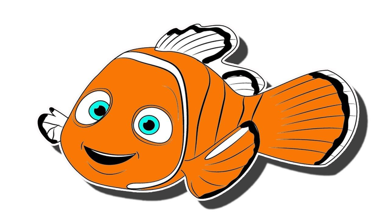 Gambar Ikan Kartun Hitam Putih Literatur