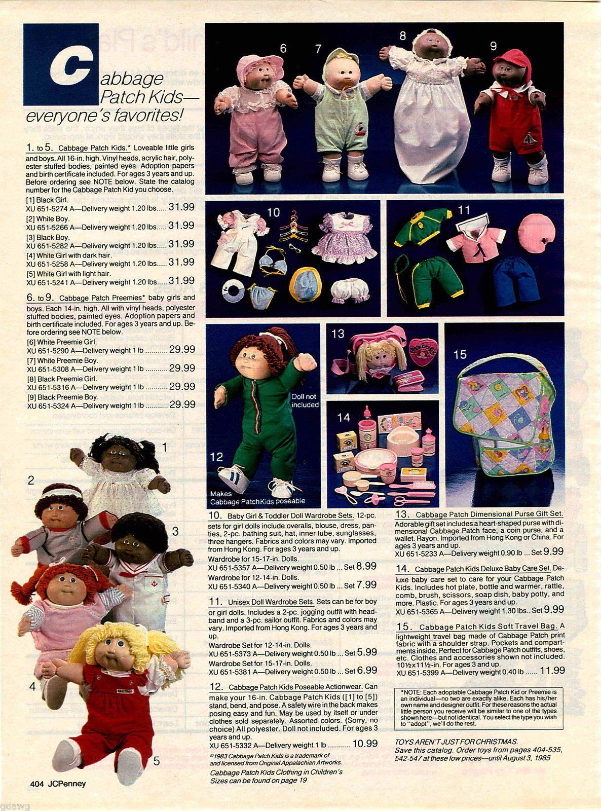 1984 Advert Cabbage Patch Kids Doll Dolls Black Girl White Boy Baby Babies Cloth Cabbage Patch Kids Cabbage Patch Kids Dolls Patch Kids