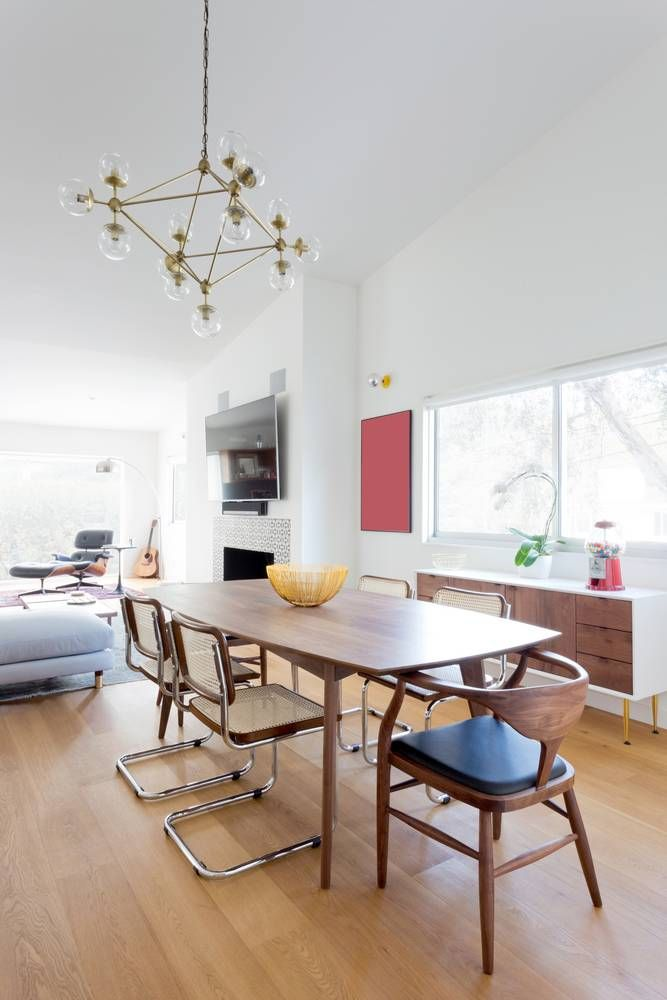 An La Retreat With Vintage Layers Midcentury Design And One Amusing The Gourmet Dining Room Doncaster Decorating Design