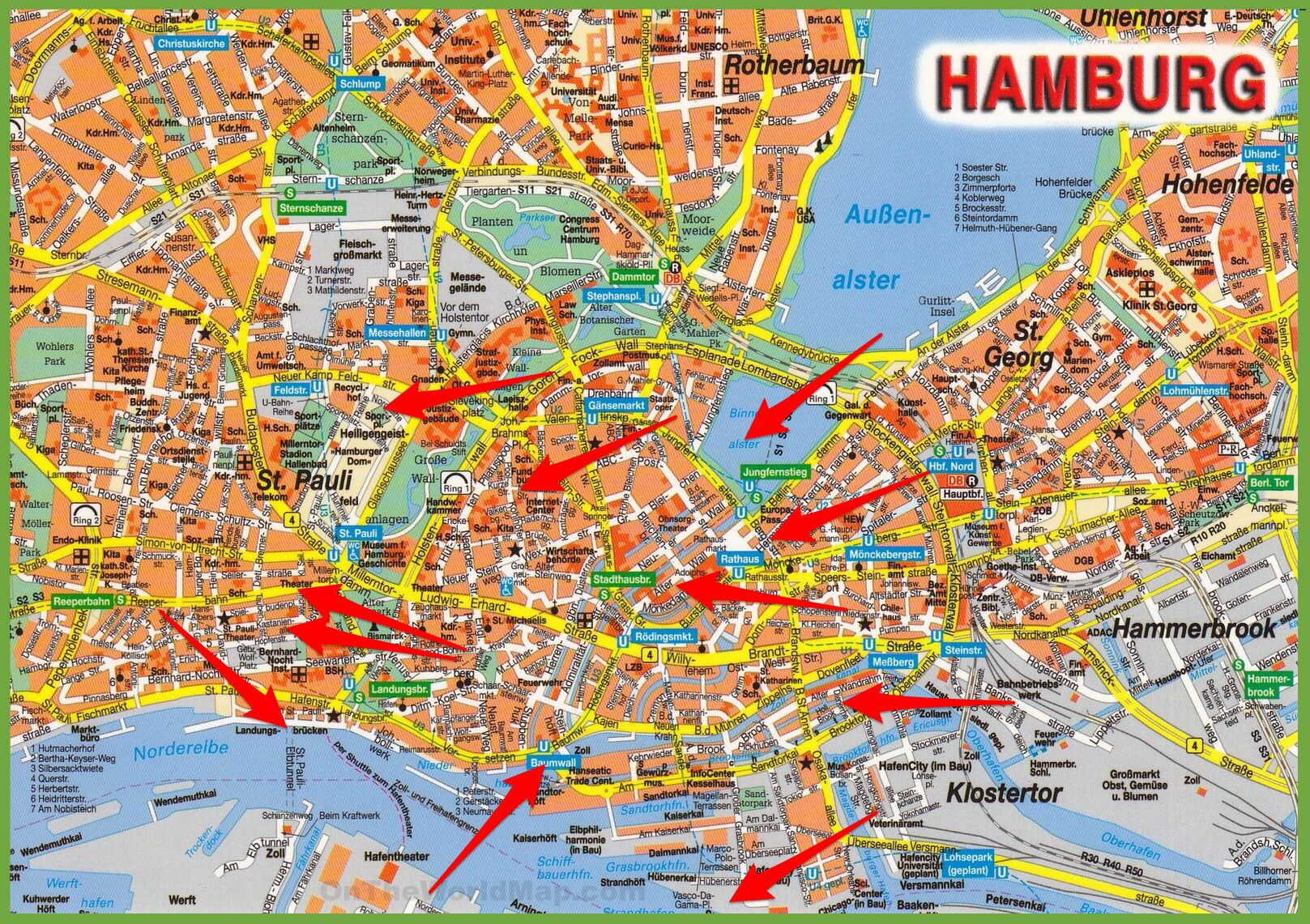 Danska Image By Marko Hamburg Tourist Map Map Germany Map
