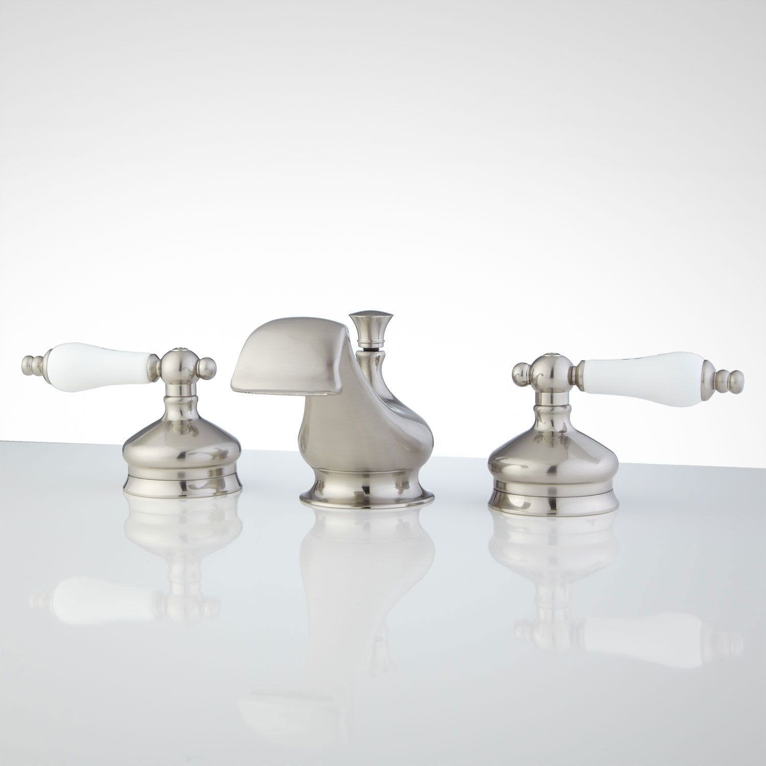 Shannon Widespread Bathroom Faucet Porcelain Lever