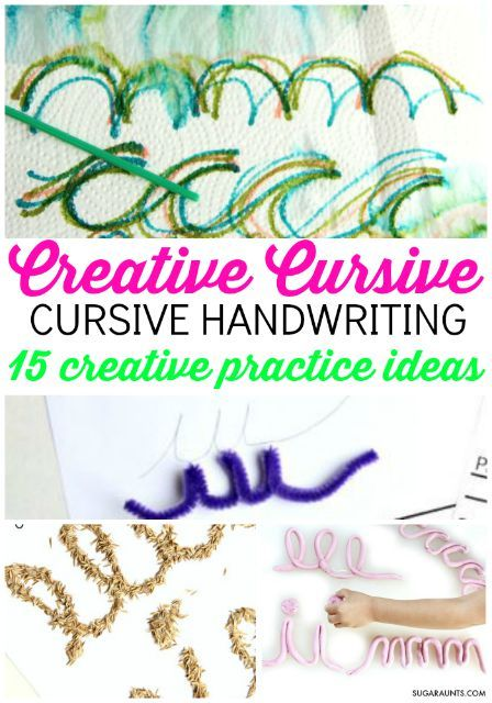 Learn to Write Cursive with a Creative Cursive Handwriting Journal