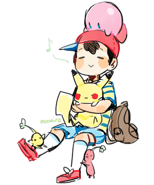 Kirby, Ness and Pikachu smash bros | Games and RPG | Pinterest ...