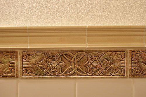 Decorative Handmade Ceramic Tile Decorative Relief Carved Ceramic Celtic Eagle Tile Border Tile Installation Handmade Ceramic Tiles Celtic Decor
