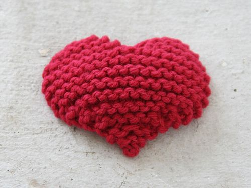 Best Knitted Heart No Matter The Yarn Or Needle Size Easy To Knit Custom Knitted Heart Pattern