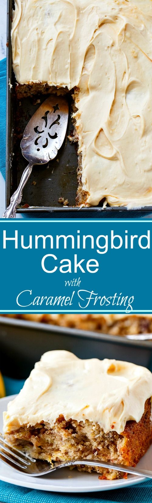 Hummingbird Cake with Caramel Frosting