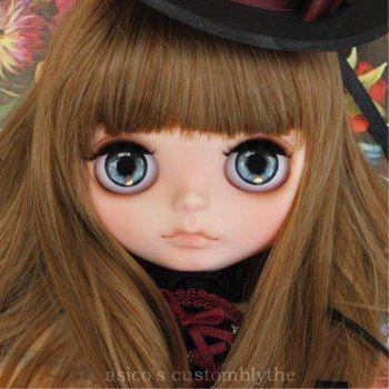 "asico's Custom Blythe ""Henrietta's home party""  Buy her here:   #blythe #blythedolls #kawaii #cute #rinkya #japan #collectibles #neoblythe #customblythe"