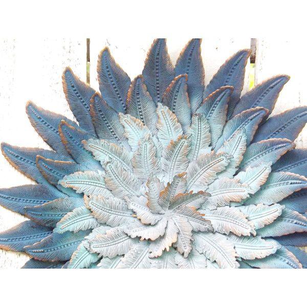 Mega New Year Bohemian Flower Art~Ombre~Navy~Aqua~Metal Wall ($43