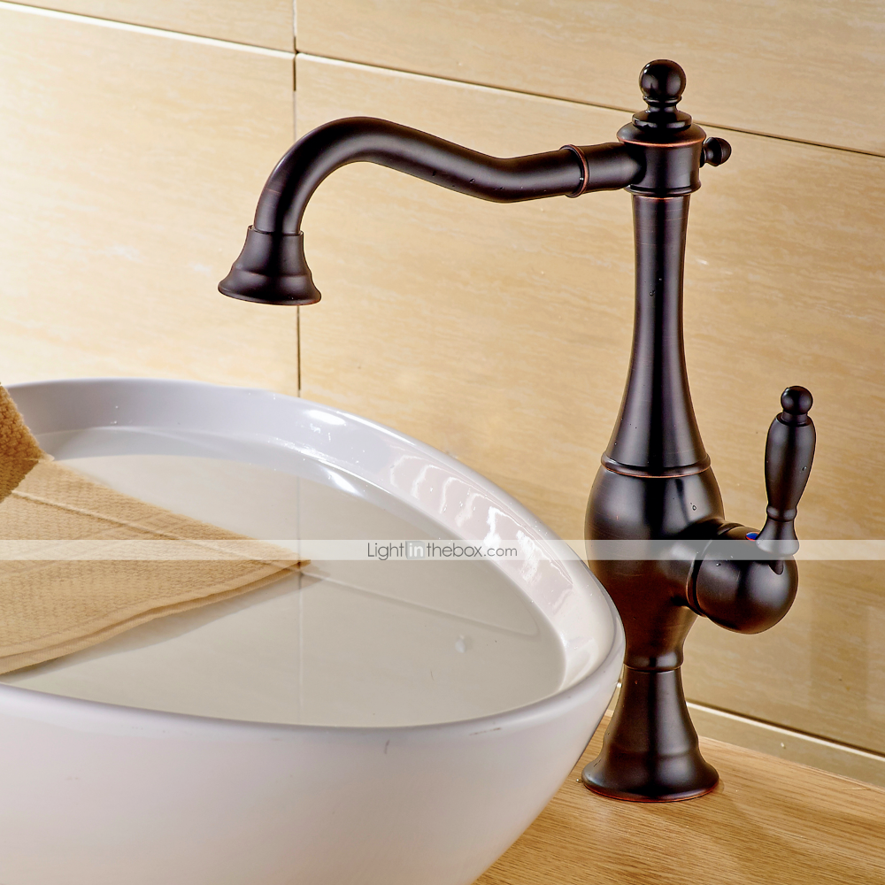 Bathroom Sink Faucet Oil Immersed Bronze Container Single Handle Single Hole Basin Faucet With Images Sink Faucets Bathroom Sink Bathroom Sink Faucets Waterfall