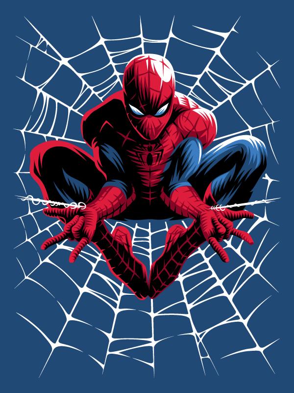 T Shirt Colletion For Jobedu X Marvel On Behance Spiderman Web Spiderman Comic Spiderman Artwork