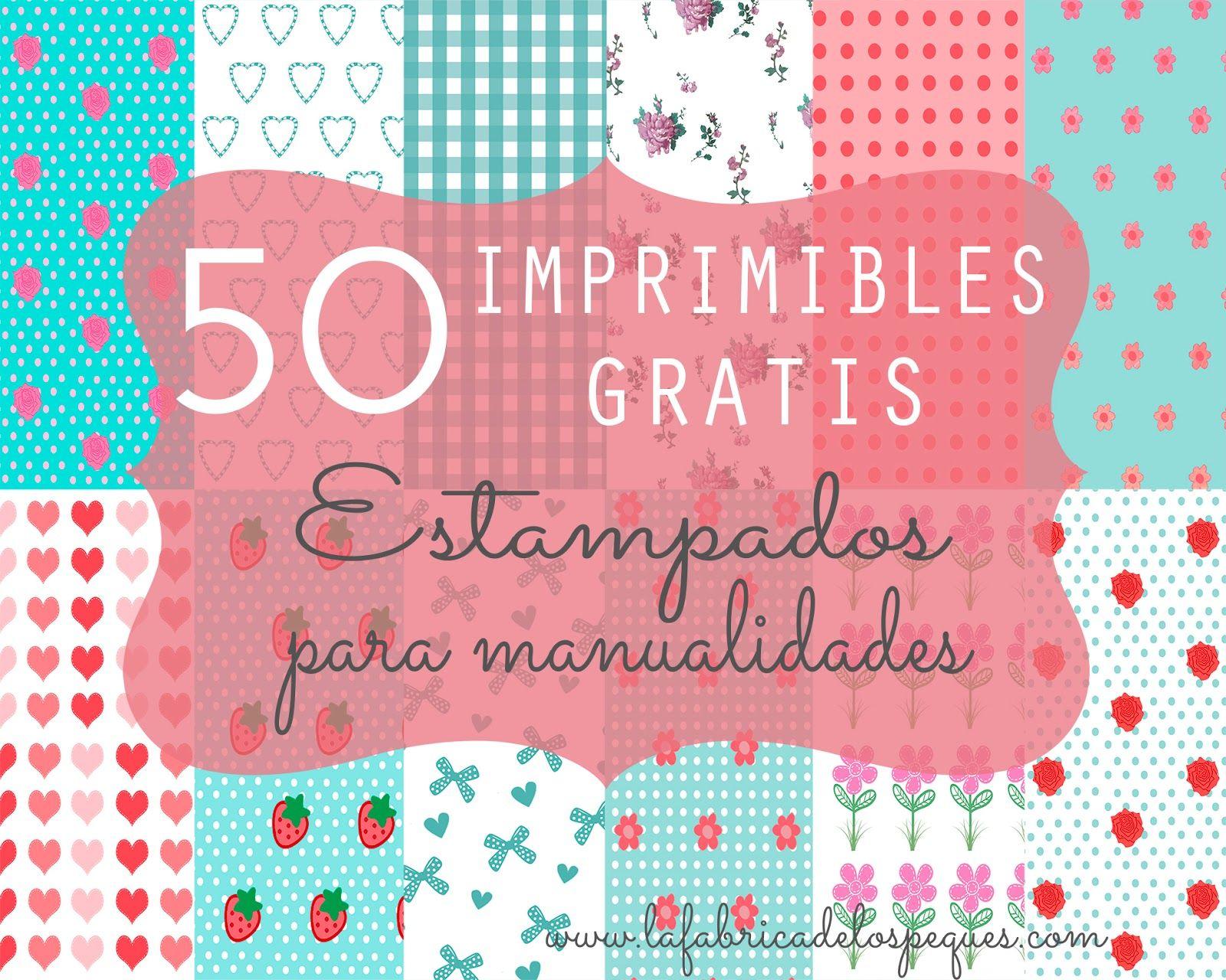 50 imprimibles gratis estampados para manualidades | Manualidades ...