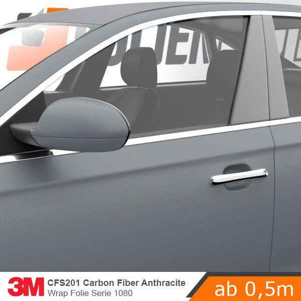 3m 1080 cfs201 carbon fiber anthracite car wrap autofolie 152cm fahrzeugbeklebung fahrzeuge. Black Bedroom Furniture Sets. Home Design Ideas