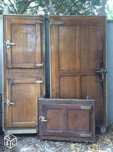 Portes bois chambre froide de boucher recherche google Porte de chambre bois