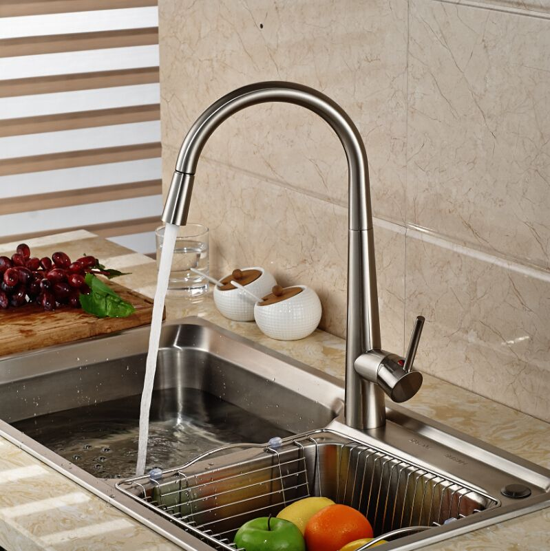 Contemporary Pullout Kitchen Sink Mixer Single Lever One Hole Impressive Discount Kitchen Faucets Inspiration Design