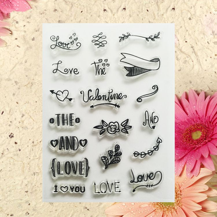 love letters design Clear Transparent Stamp DIY Scrapbooking paper - love letters