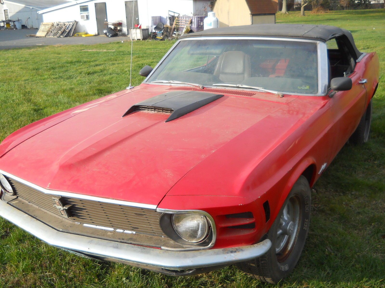 1970 FORD Mustang Original 302 V8 Convertible Restoration Project ...