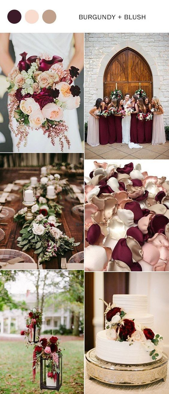 Burgundy Is One Of My Favorite Wedding Colors Especially For Fall Events The Berry