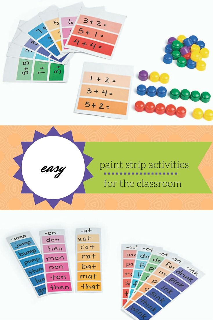 A Brushstroke of Genius: Easy Paint Strip Activities for the