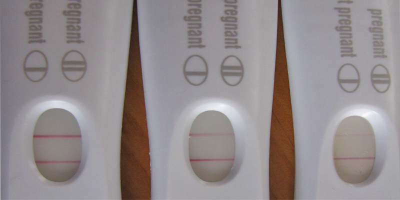 how to make a negative pregnancy test positive