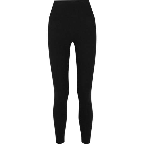 James Perse Fleece leggings ($165) ❤ liked on Polyvore featuring black and james perse