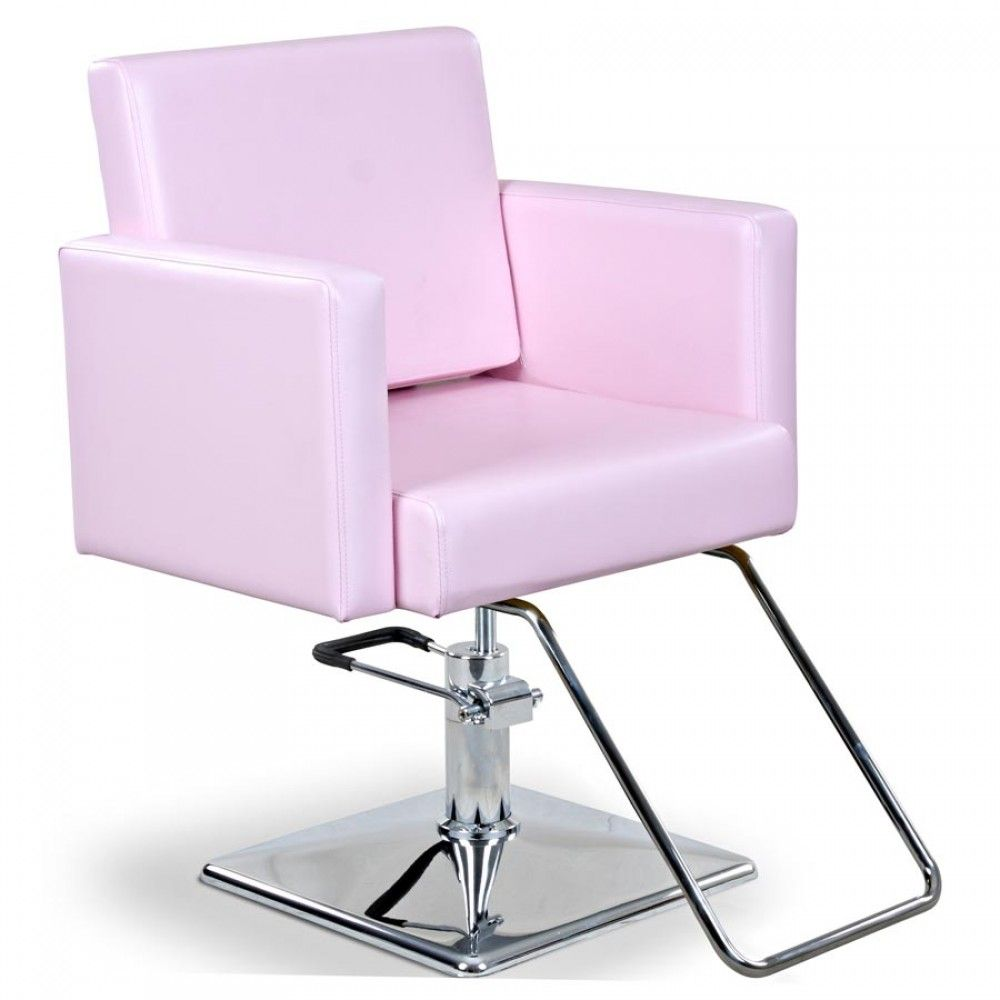 Pink hair salon chairs -  Masina Pink Styling Chair W Round Base T Bar Angle
