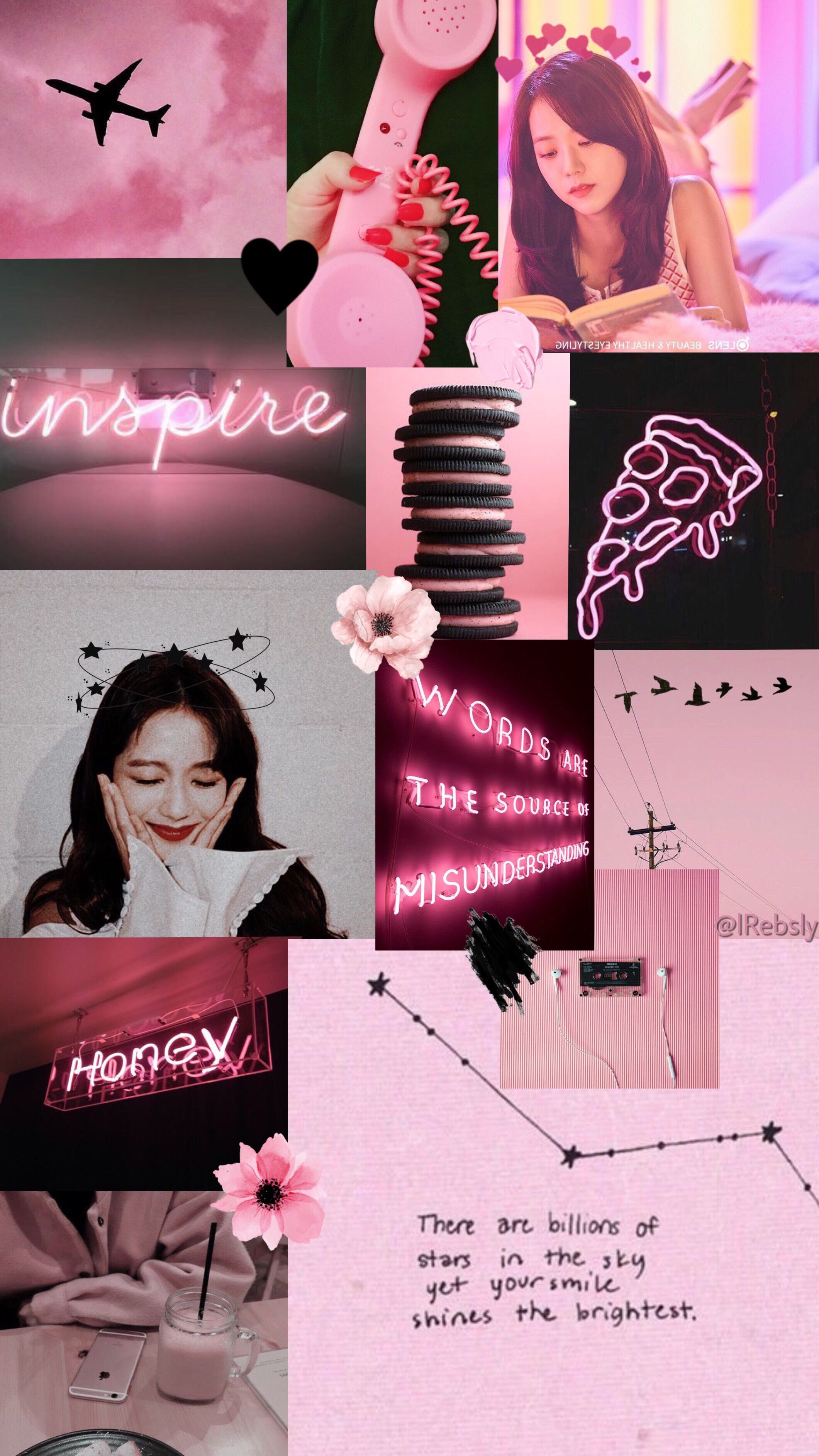Aesthetic Girly Black And Pink Wallpaper