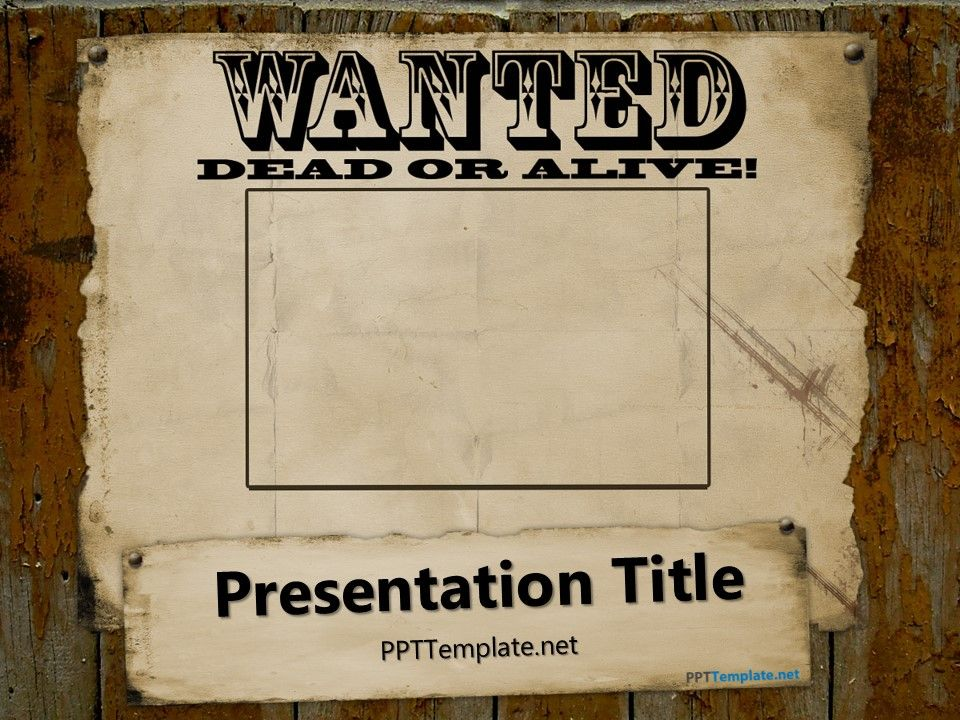 Free+Wanted+PowerPoint+Template School Stuff Pinterest School - create a wanted poster free