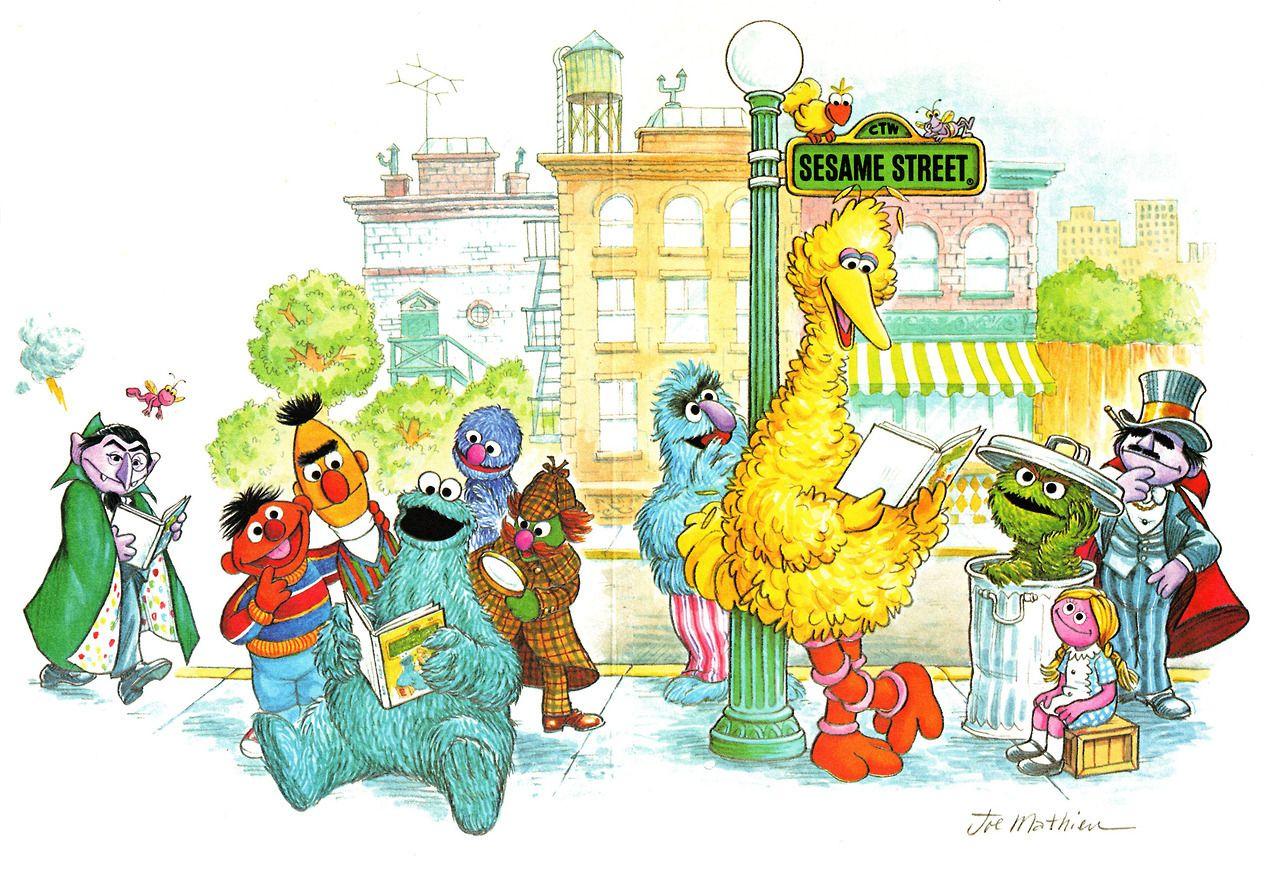 "Sesame Street illustration by Joseph Mathieu, 1979 "" | Memories ..."