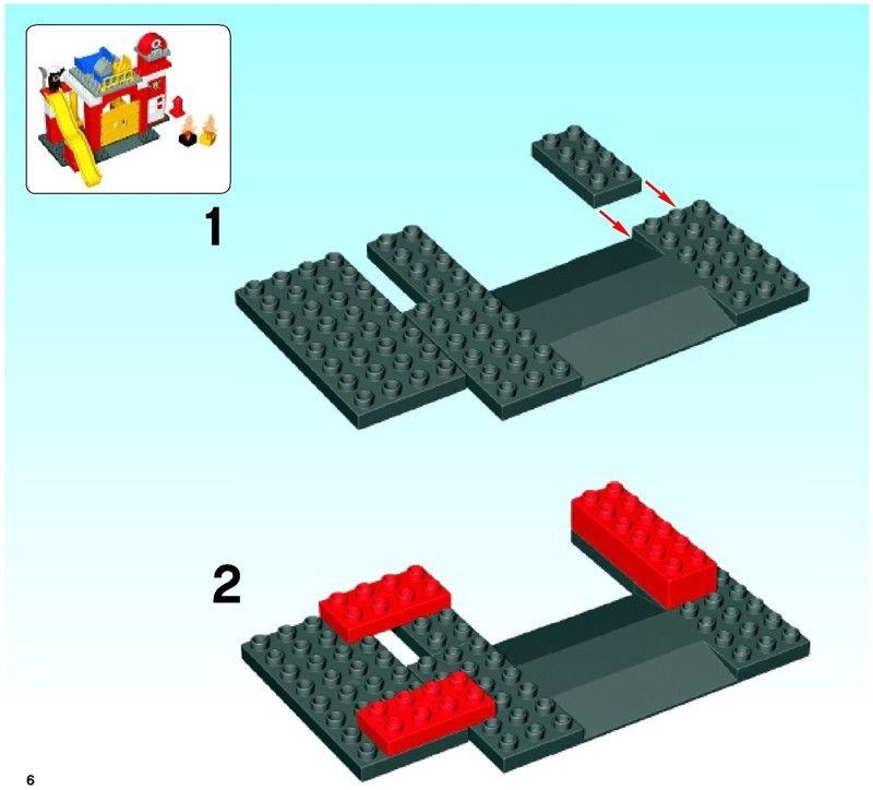 Duplo Fire Station Lego 6168 Für Kinder Lego Fire Lego Und
