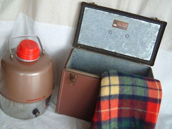 Vintage Metal Vacation Travel Cooler By Birmingham Stove And Range Co Birmingham Al Vintage Metal Metal Decorative Lines
