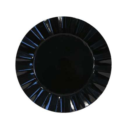 Charger Plate Black Wave Linen Effects Minneapolis Mn Table Top Decor And Charger Plate Rentals Charger Plates Plates Tabletop Accessories