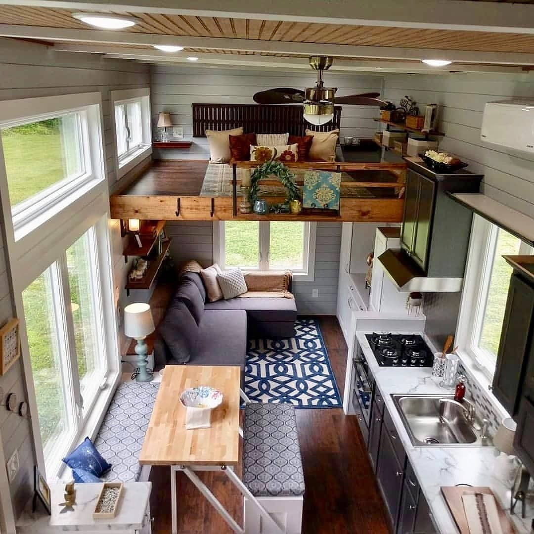 Tiny House Hunter On Instagram This Tiny Home Is So Cute Would You Love To Live Here Tiny House Hunters Tiny House Living Room Tiny House Listings