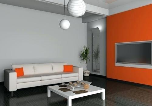 Grau Und Orange Schlafzimmer #wandfarbe #bett #fengshui #bedroom  #dekokissen #gelb