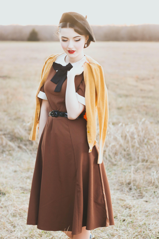 Madison Steward Unique Vintage Dress Vintage Inspired Outfits Unique Vintage Dresses Retro Fashion