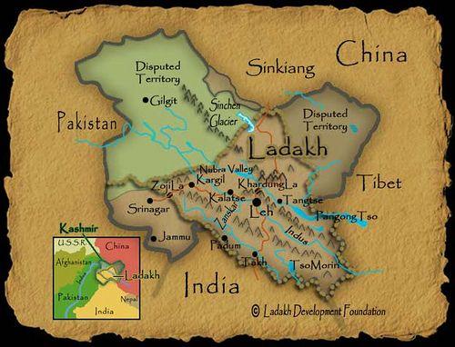 Map Of Ladakh Leh Ladakh Buddhist Stupa India Map