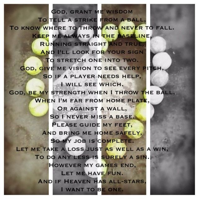 softball player u0026 39 s prayer  love this