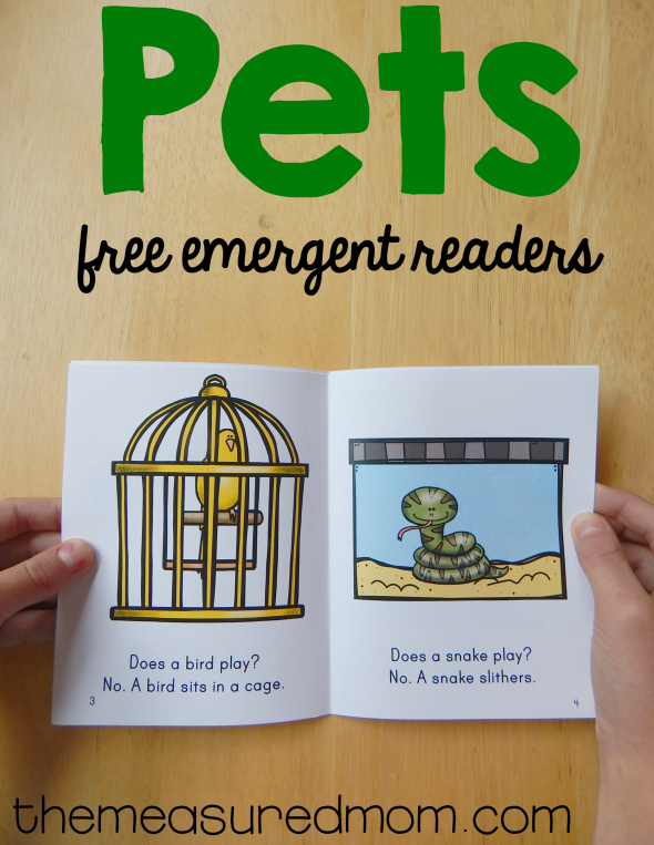Free Emergent Readers About Pets The Measured Mom Emergent Readers Pets Preschool Pets Preschool Theme