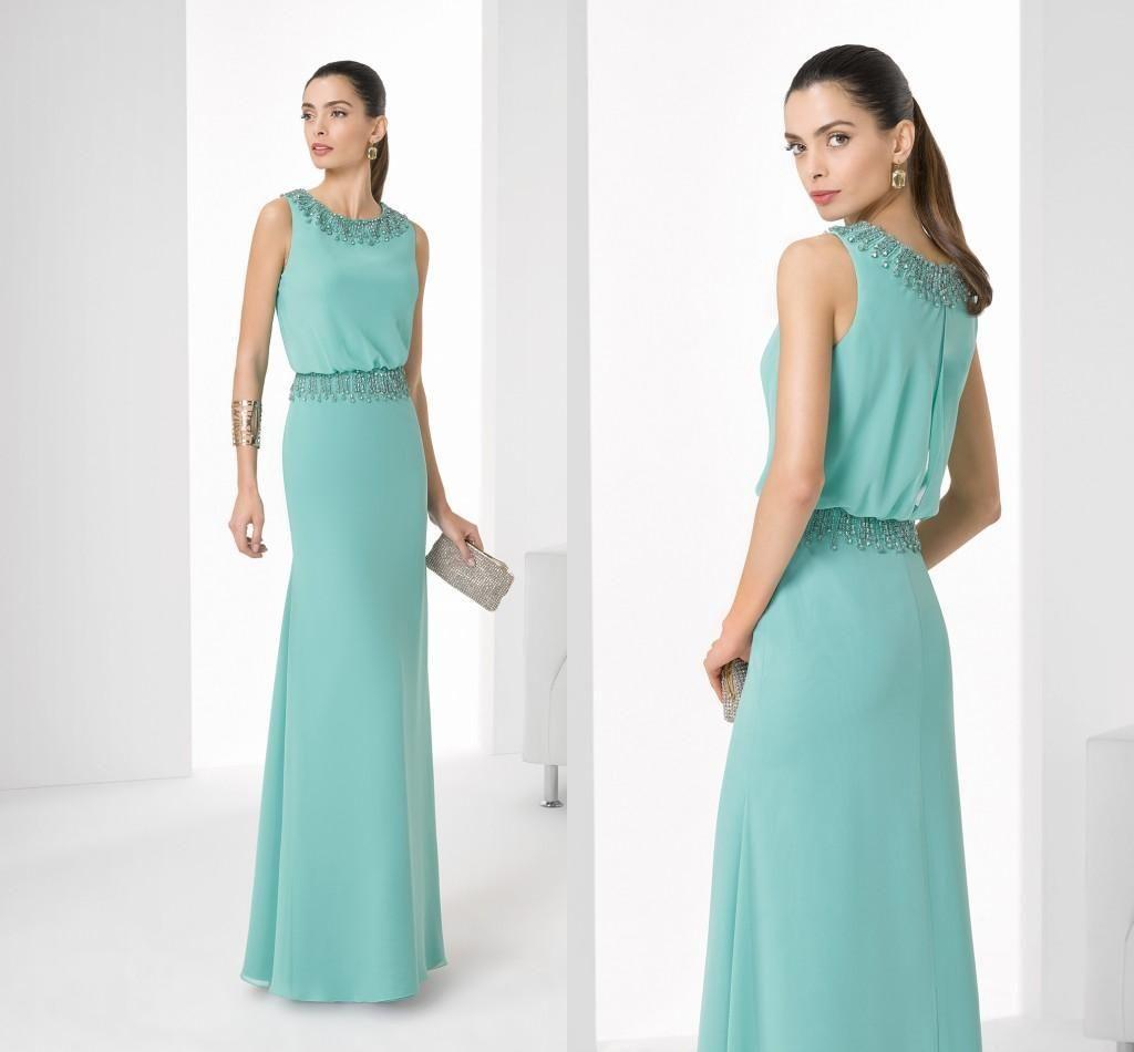 Elegant Rosa Clara Mint Crew Mother\'S Dresses Lace Beads Neck ...