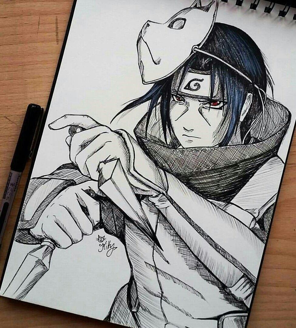 Itachi Uchiha Anbu Itachi Uchiha Naruto Art Naruto Sketch