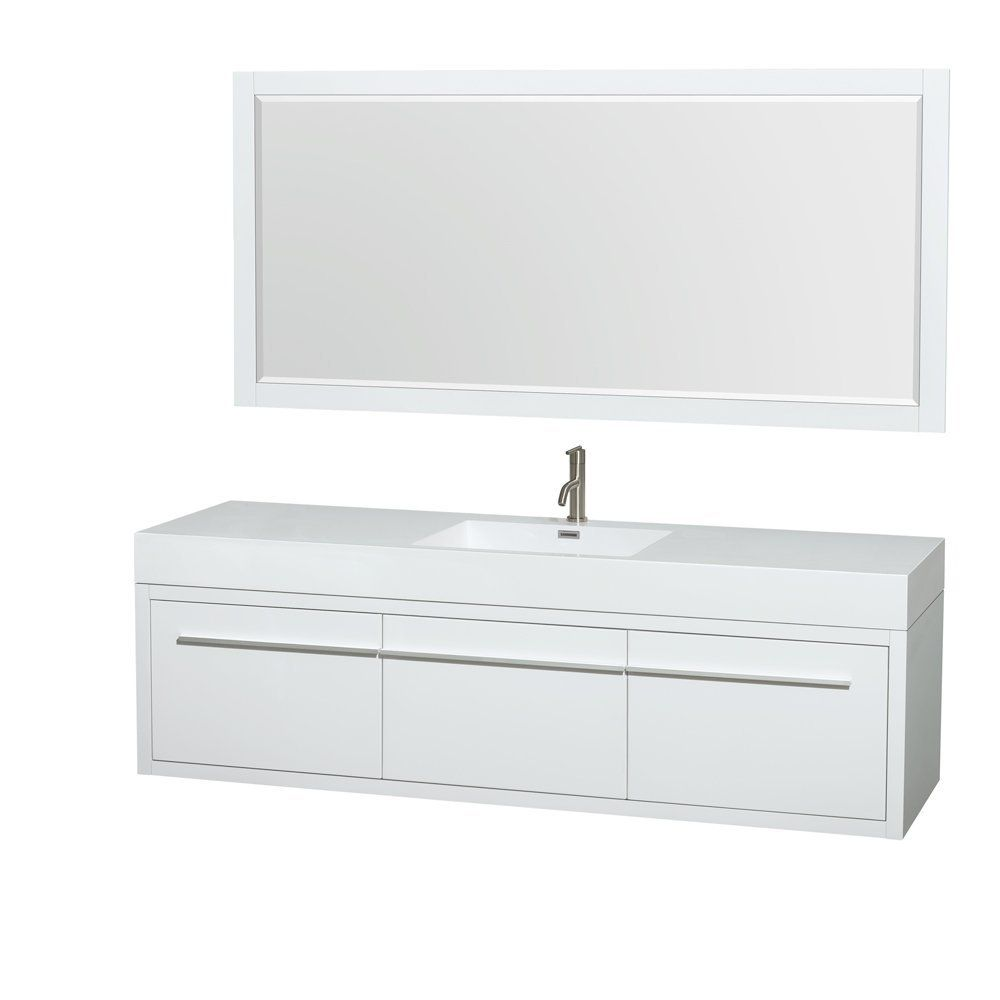 Wyndham Collection Axa Single Bathroom Vanity With Acrylic Resin