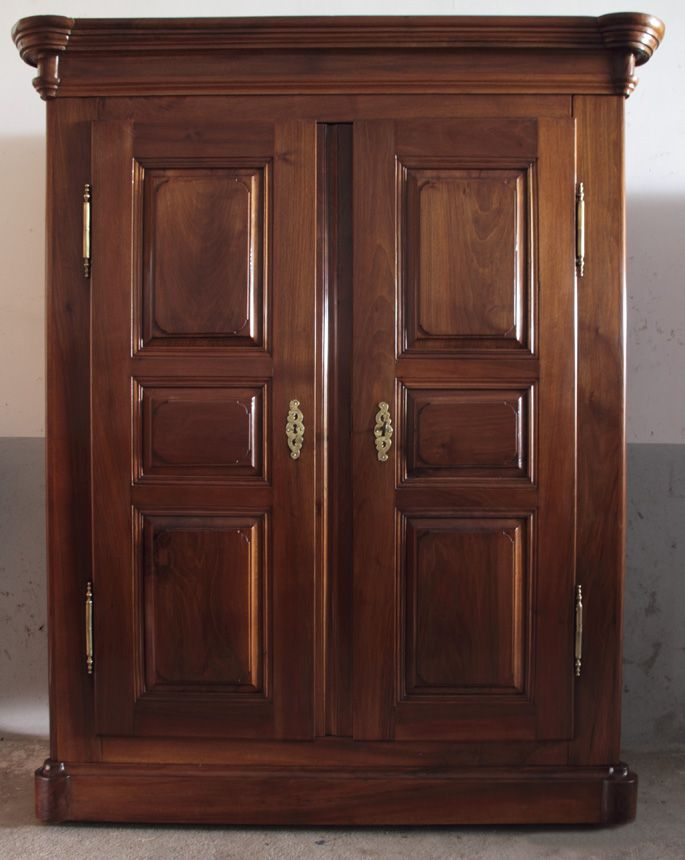 Armario bernese siglo xix en madera de nogal con dos - Armario de madera ...