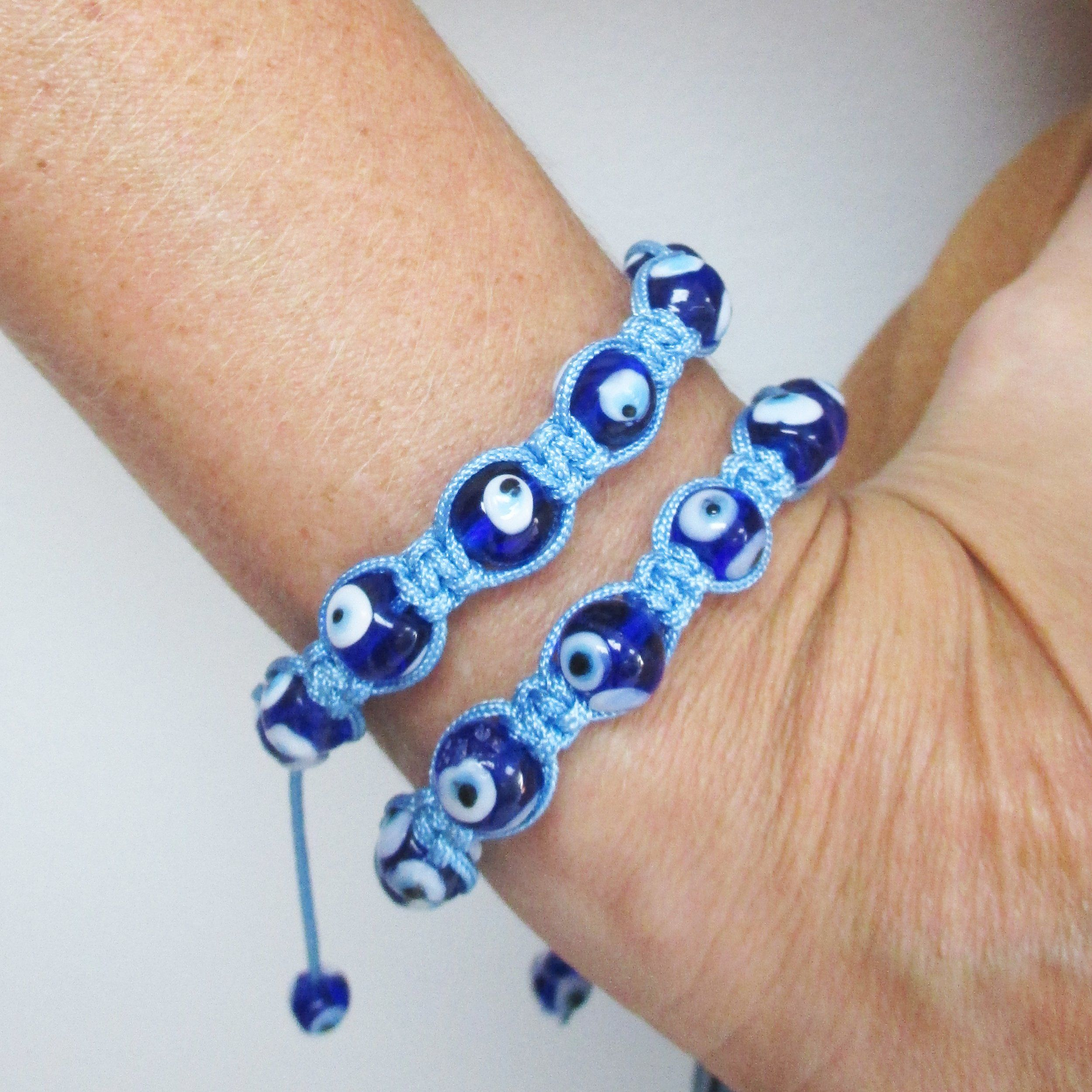 mati jewelry nazar eye greek luck pin hamsa blue bracelet evil good