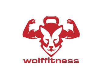 Logo Wolf Fitness Logo Design This Logo For Fitness Gym With Wolf Price 125 00 Fitness Logo Design Logo Design Gym Logo