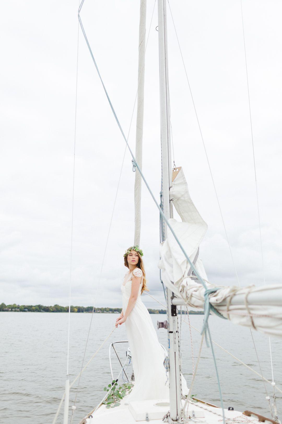 Elegant sailboat elopement ideas yachts wedding pinterest