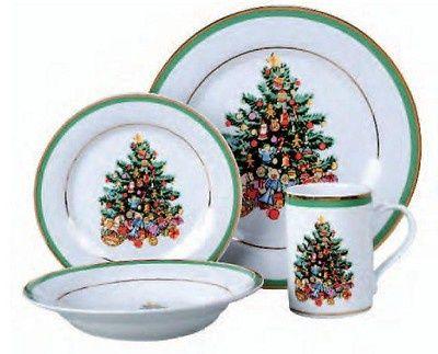 Gibson Christmas Morning 16 Piece Dinnerware Set   DINNERWARE ...