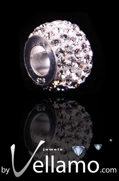 'Star' Pandora style pendant, white crystal