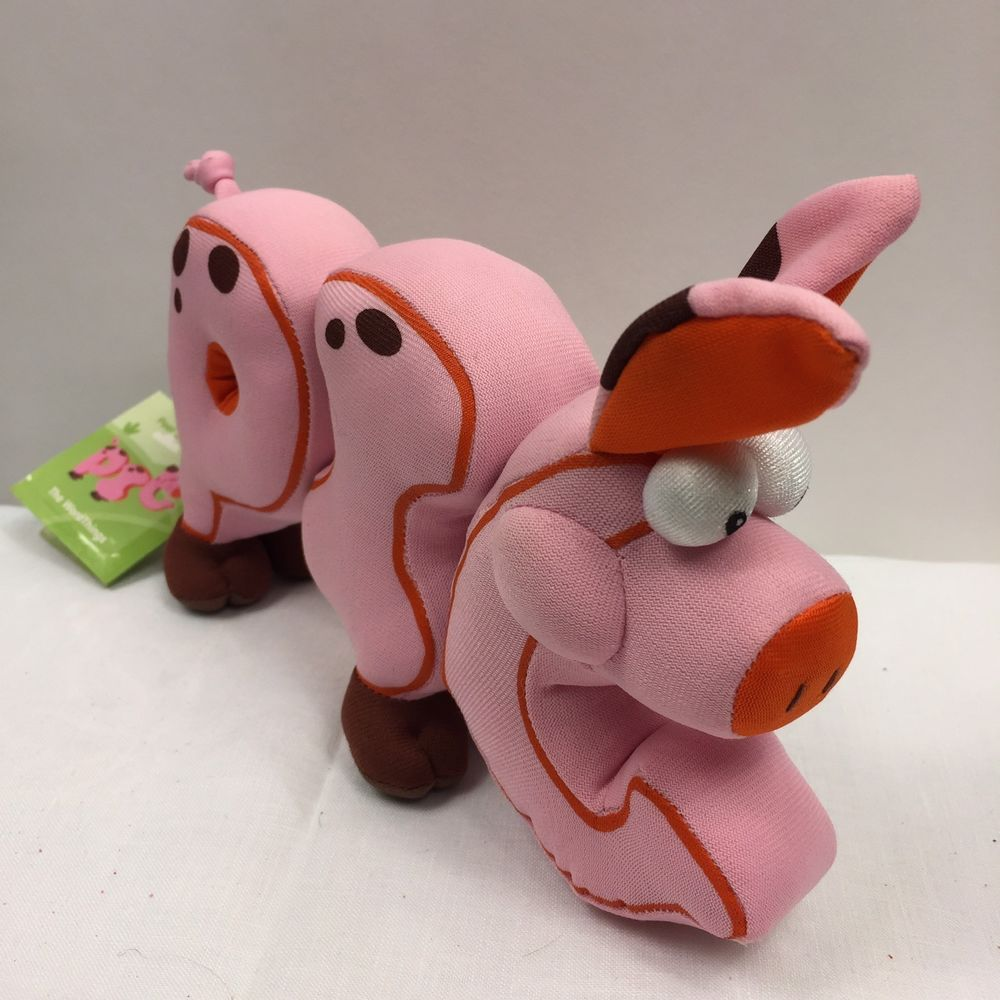 Pbs Kids Word World Pig Pink Magnetic Pull Apart Stuffed Letters